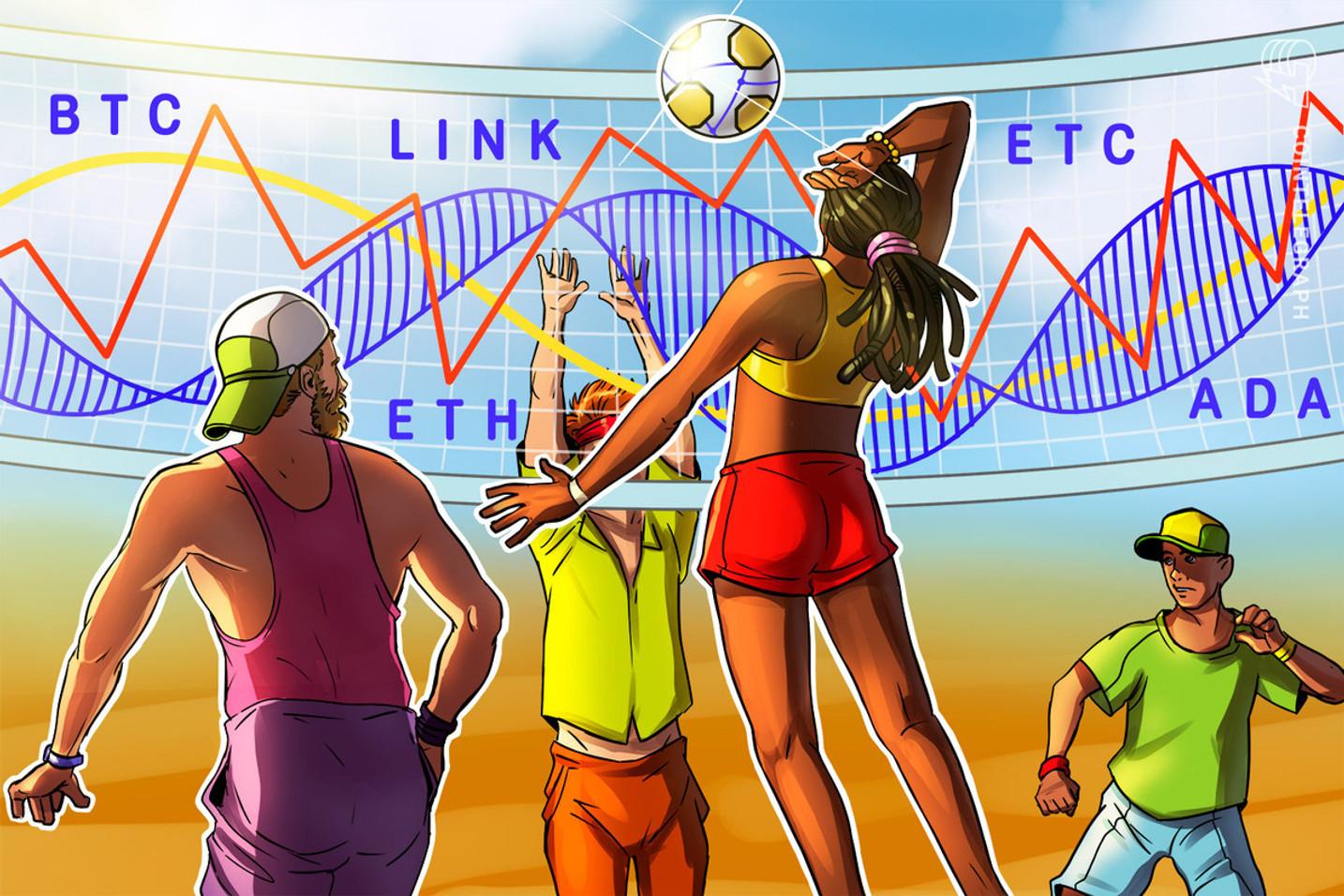 Las 5 principales criptomonedas a observar esta semana: BTC, ETH, LINK, ADA, ETC