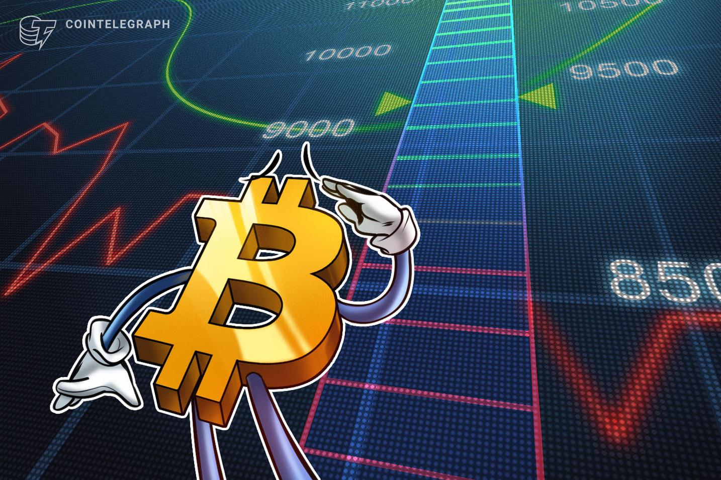 Bitcoin cai abaixo de US$ 9.000 com preço provocando a quebra do corredor de trading