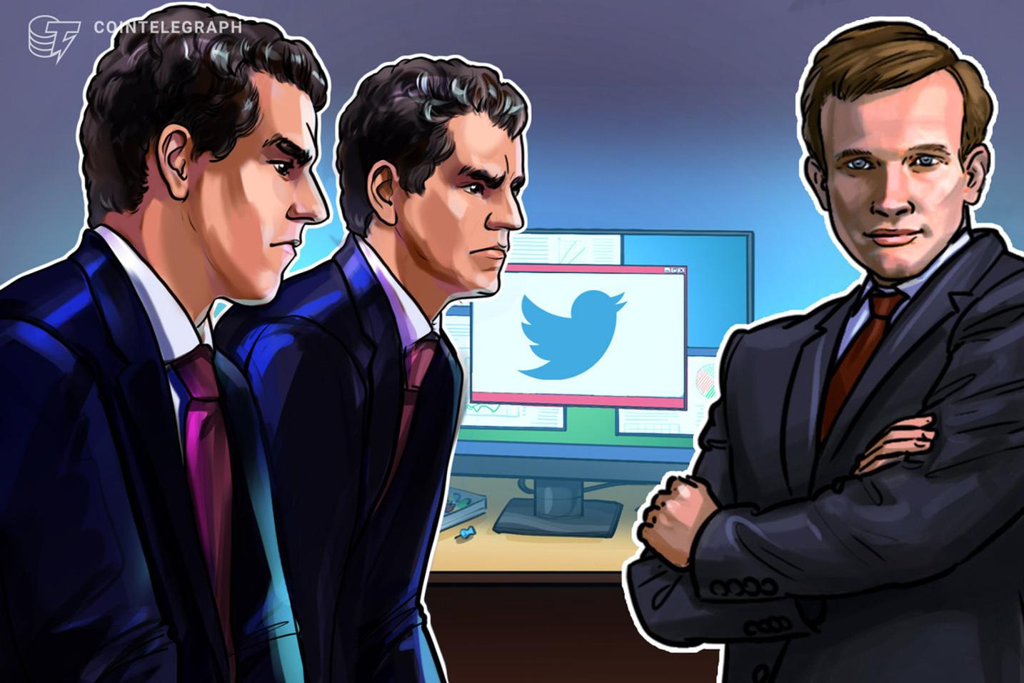 Buterin y los gemelos Winklevoss abordan la batalla sobre la censura en Twitter