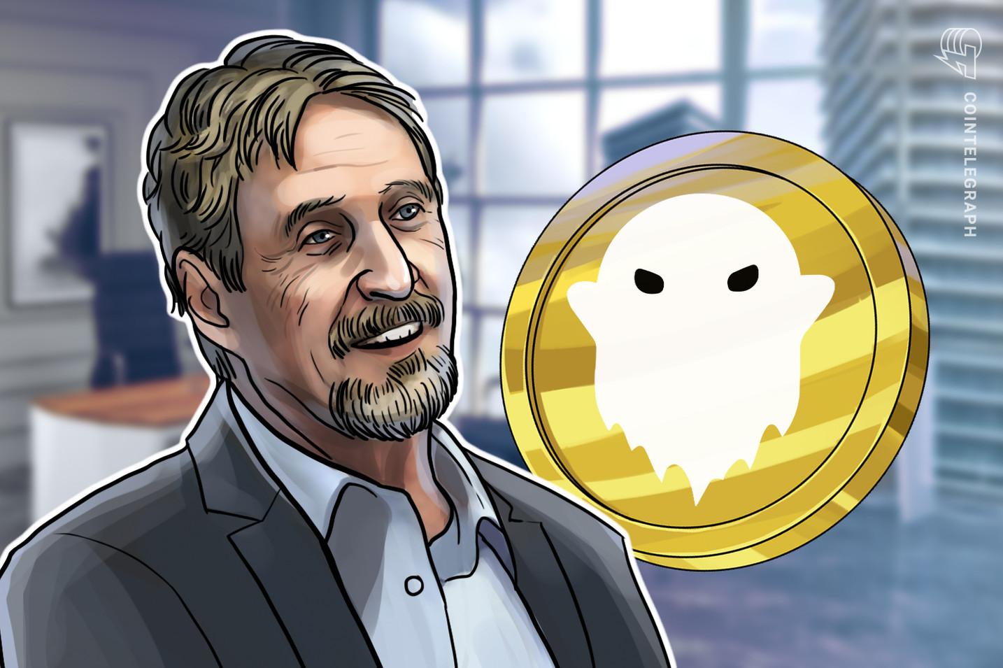 John McAfee aclaró que sigue formando parte del ecosistema de Ghost