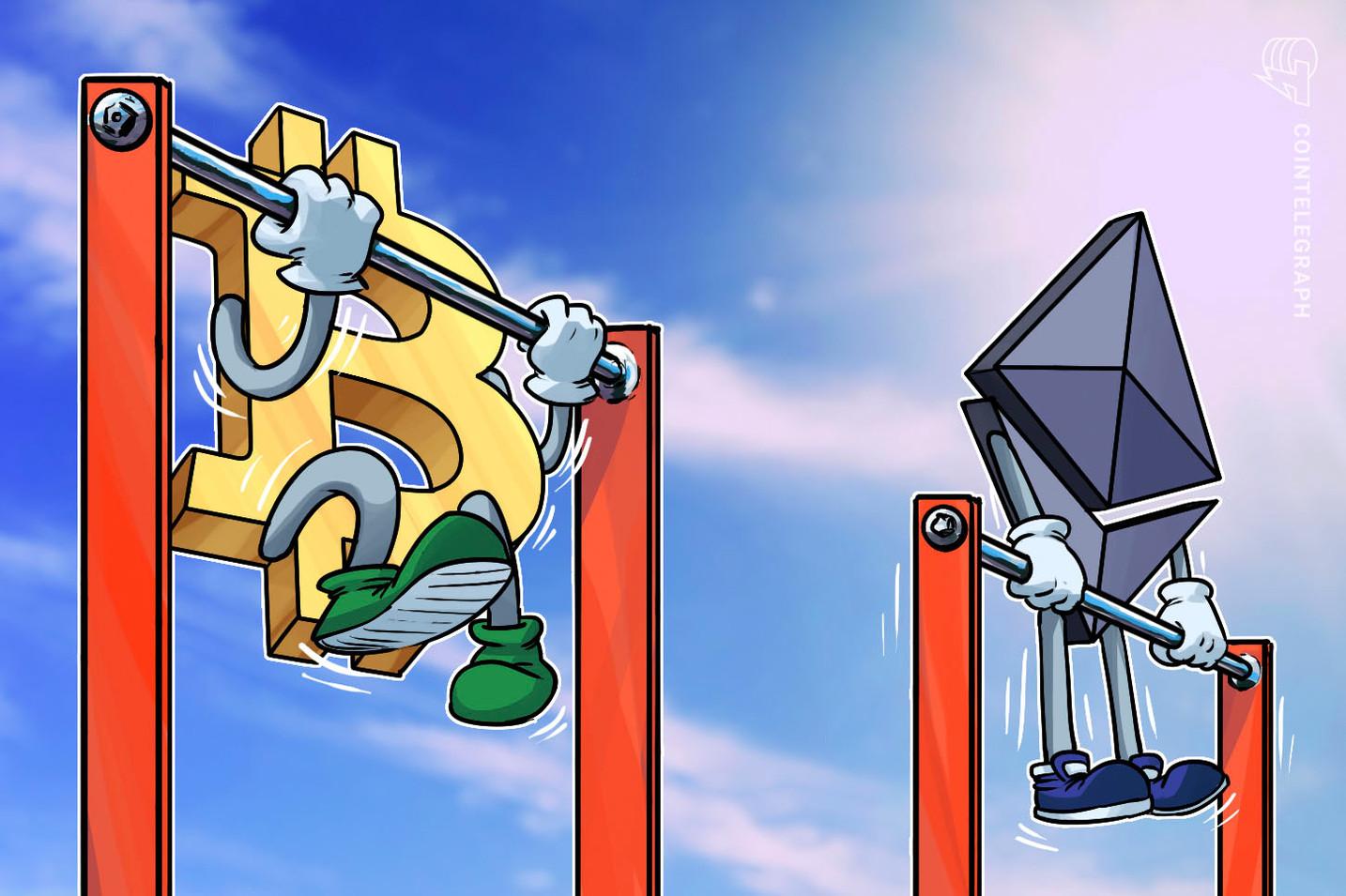 Capitalización de mercado de tokens ERC-20 respecto a Ethereum alcanza un máximo histórico