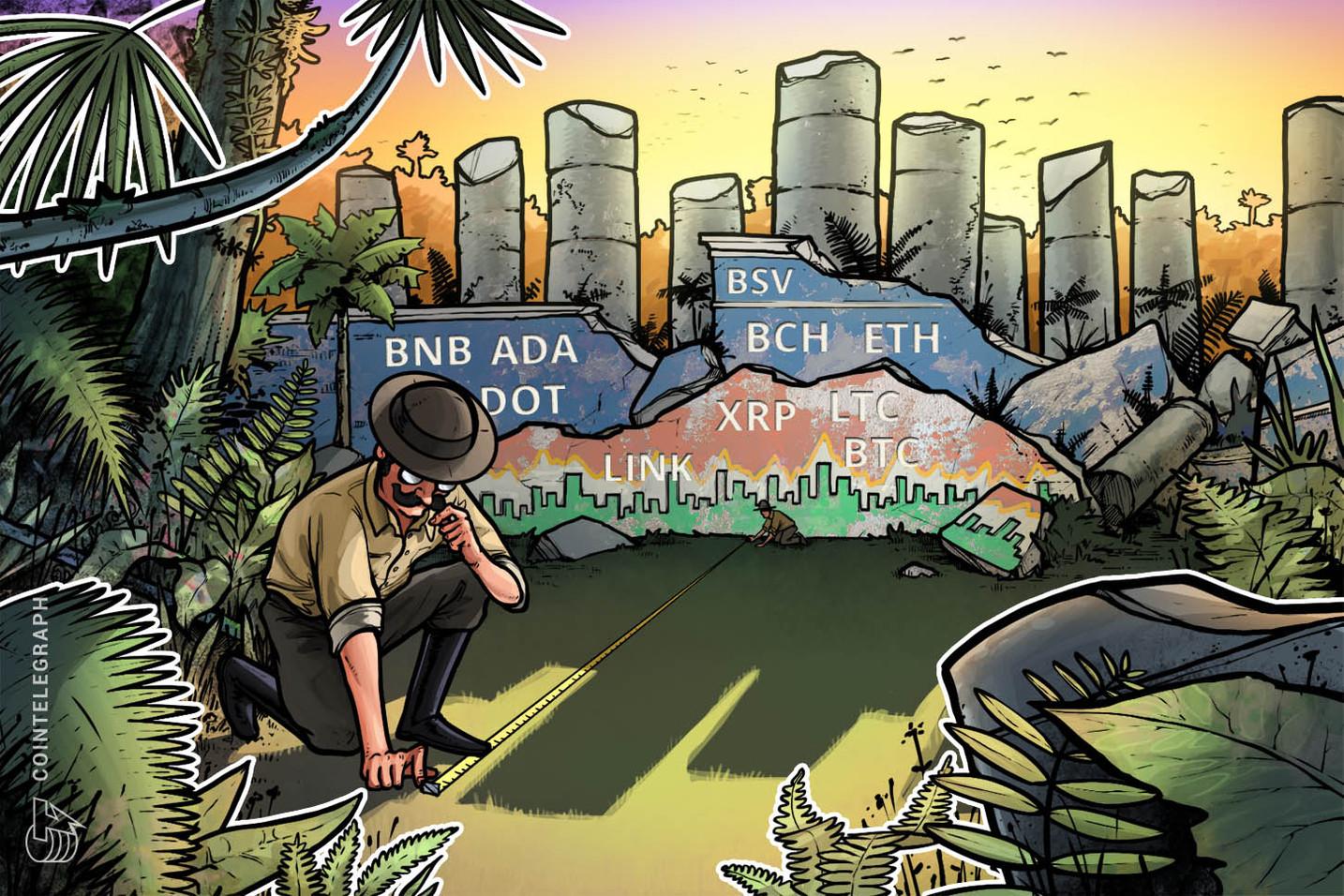 Análisis de precios del 19 de octubre: BTC, ETH, XRP, BCH, BNB, LINK, DOT, ADA, LTC, BSV