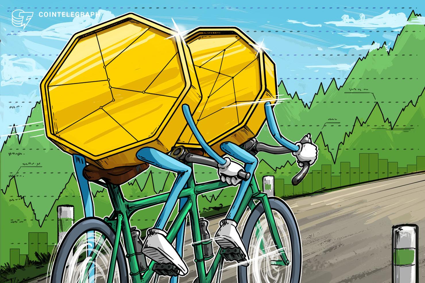 Bitcoin vale más de USD 7,400 nuevamente, mientras el mercado de valores de EE. UU. experimenta una baja moderada