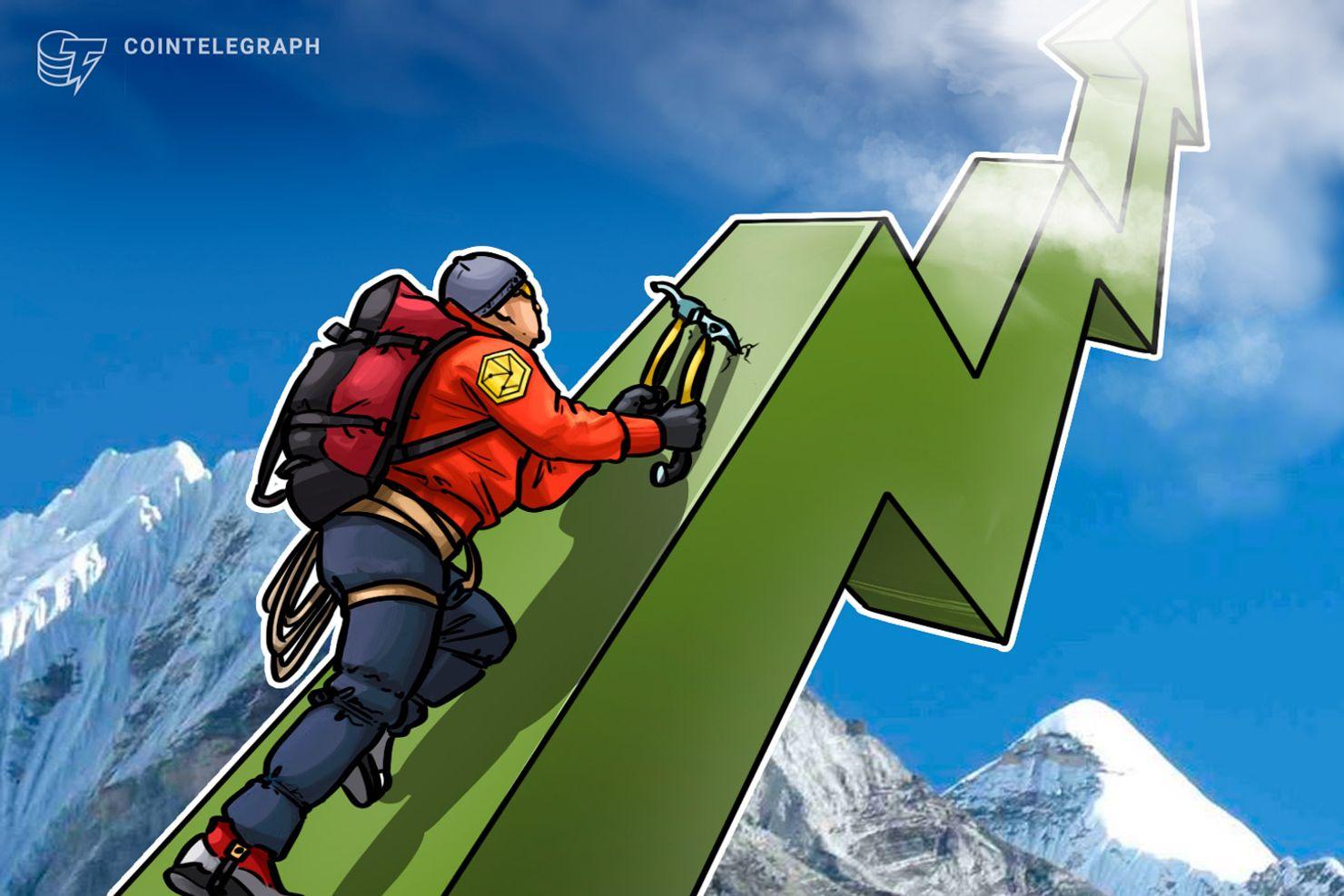 Kryptowährungsmarkt steigt weiter: Ripple verzeichnet 68 Prozent Plus
