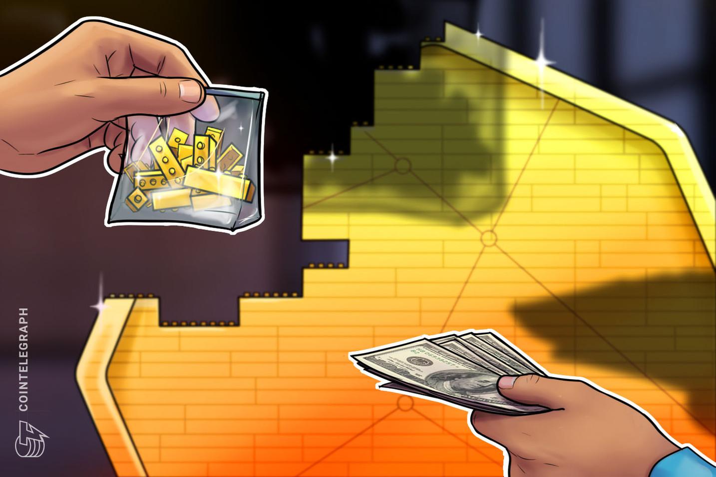 Mazzo di lancio degli investimenti in criptovaluta
