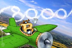 Bitkoin se probio iznad 8.000 dolara dok pojedini altkoini beleže blagi oporavak