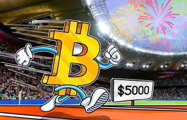 El precio de Bitcoin sube a $5,000 seguido de una liquidación substancial