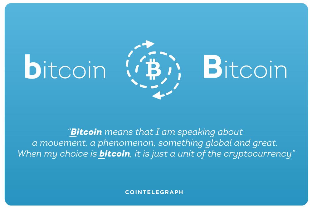 A question of cases: Bitcoin or bitcoin