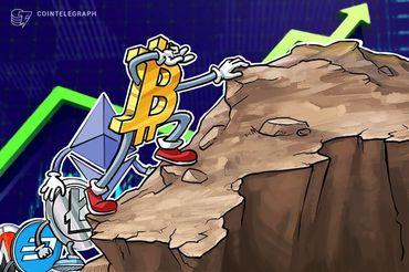 Capitalização de mercado total da cripto atinge 7 semanas de alta a US $ 400 bilhões, BTC se mantém perto dos US $ 9K