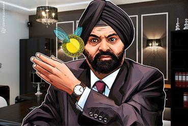 CEO da Mastercard ataca o Bitcoin e encontra consolo em criptos apoiadas pelo governo