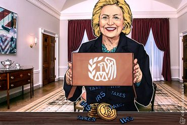 Election of Hillary Could Negatively Affect Bitcoin: Move from IRS?
