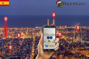 Bitcoins escondidos en las calles de Barcelona