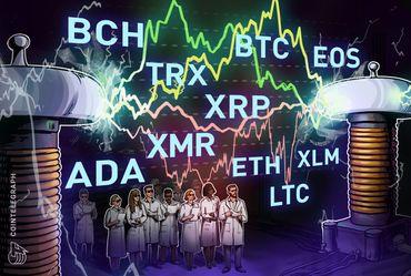 仮想通貨最新チャート分析:ビットコイン、イーサリアム、リップル、ビットコインキャッシュ 、イオス