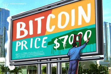 Bitcoin continua perto de US $ 7.000, mercado de cripto geral está passando por correções moderadas