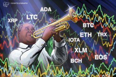 Bitcoin, Ethereum, Ripple, Bitcoin Cash, EOS, Litecoin, Cardano, Stellar, IOTA, TRON: Análise de preços, 01 de agosto