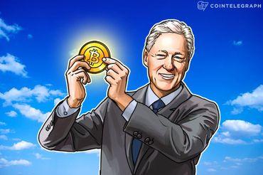 ビル・クリントン元大統領、初めてビットコインを受け取る