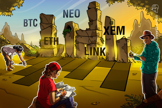 Top 5 Cryptocurrencies to Watch This Week: BTC, ETH, LINK, NEO, XEM