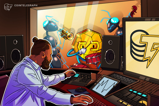 The Cointelegraph Talks music panel starts now, watch here!