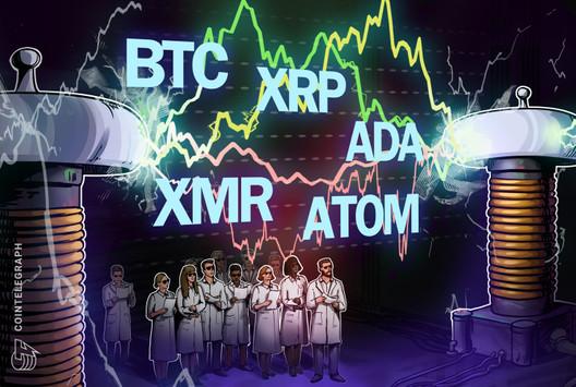 Las 5 principales criptomonedas para observar esta semana: BTC, XRP, ADA, XMR, ATOM