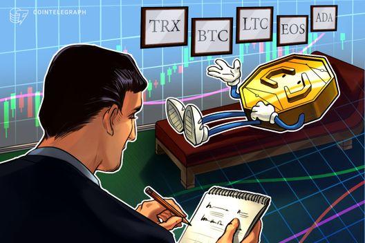 Top 5 Crypto Performers Overview: TRON, Bitcoin, Litecoin, EOS, Cardano