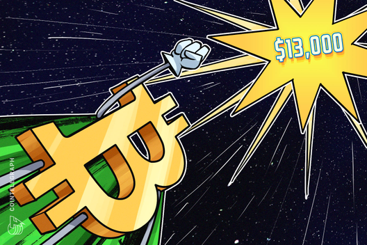 Bitcoin Breaks $13,000 As Rally Continues
