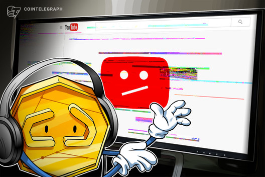 YouTube Bans Crypto Channel for 'Encouraging Illegal Activities'