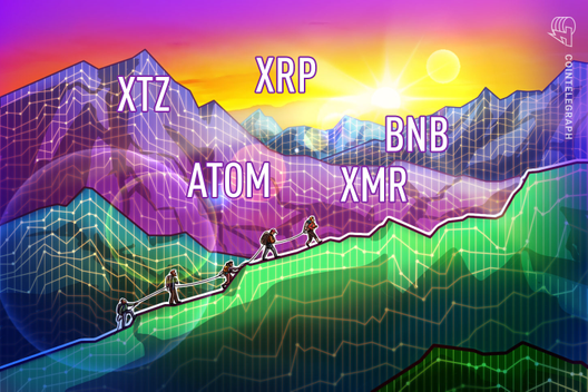 Top-5 Cryptos This Week: XTZ, ATOM, XRP, XMR, BNB