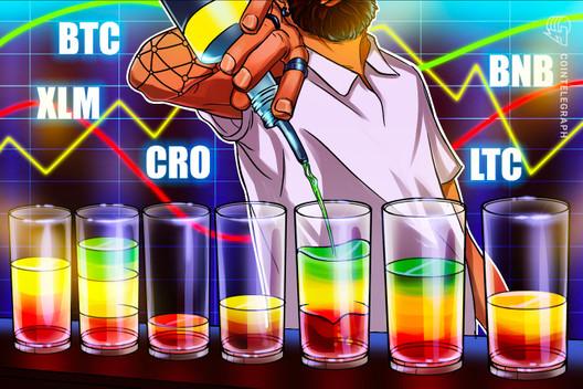 Las 5 principales criptomonedas para observar esta semana: BTC, XLM, CRO, BNB, LTC