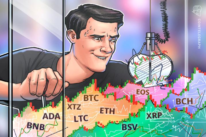 Price analysis 6/6: BTC, ETH, XRP, BCH, BSV, LTC, BNB, EOS, ADA, XTZ
