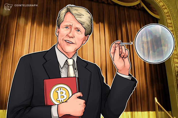 Nobel Winning Economist Shiller Says Bitcoin 'Bubble' May Be Around For A While thumbnail