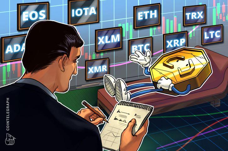 cointelegraph.com - Rakesh Upadhyay - Bitcoin, Ripple, Ethereum, Stellar, EOS, Litecoin, Cardano, Monero, TRON, IOTA: Price Analysis, Nov. 19