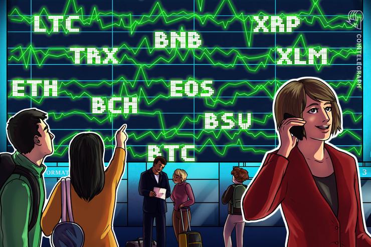 Análisis de Precios 25/10: BTC, ETH, XRP, BCH, LTC, EOS, BNB, BSV, XLM, TRX