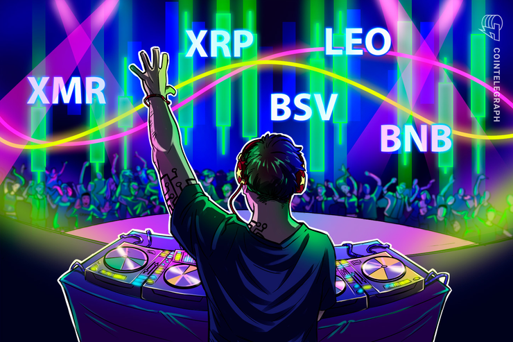 Top 5 Krypto-Performer: XMR, XRP, BSV, LEO, BNB