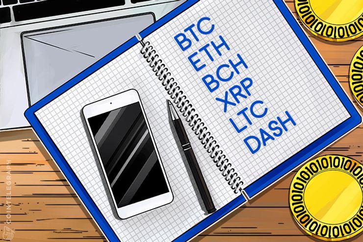 12月1日チャート分析・ビットコイン、イーサ、ビットコインキャッシュ、リップル、ライトコイン、ダッシュ等