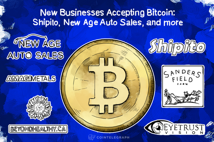 New Businesses Accepting Bitcoin: Shipito, New Age Auto Sales, and more