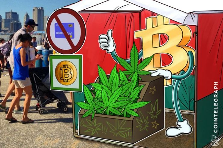 Grupo americano de Cannabis recusado no banco, hora do Bitcoin?
