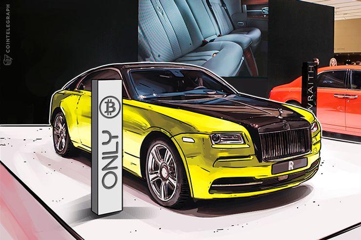 Rolls-Royce à venda - o dono quer Bitcoin