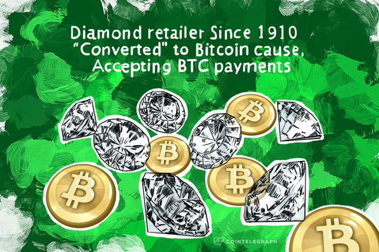 """Diamond retailer Since 1910 """"Converted"""" to Bitcoin cause, Accepting BTC payments"""