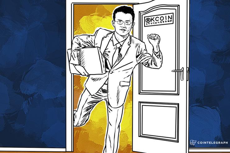 Changpeng Zhao (CZ) CTO of OkCoin Resigns