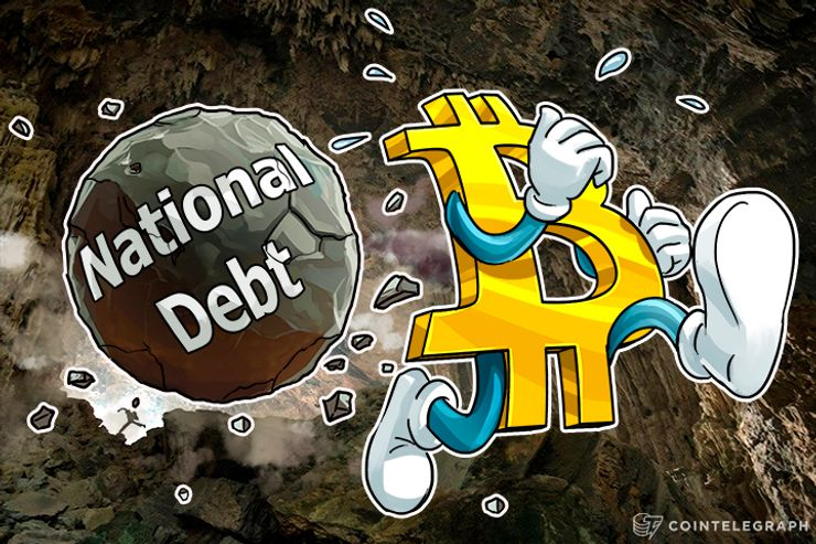 US National Debt Now Worth Bitcoin Thousands Of Times Over
