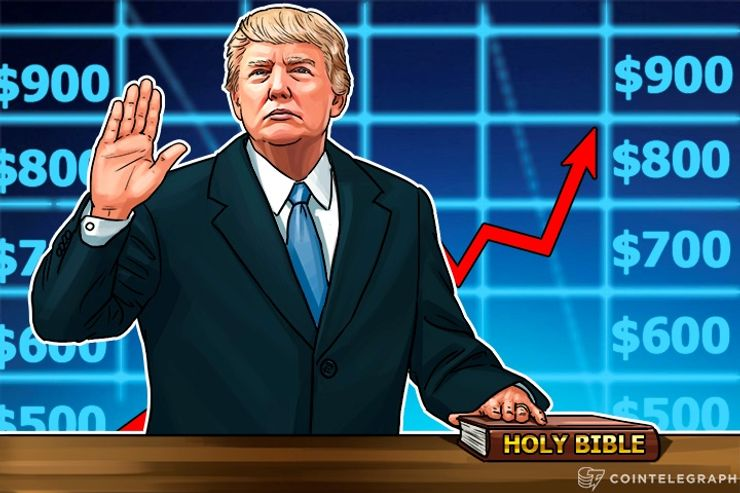 Bitcoin Price Nears $900 Days Before Trump's Swear-In; Monero, Dash, Steem Grow Too