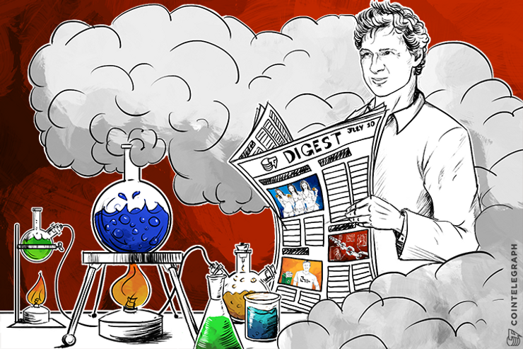 JUL 10 DIGEST: Visa Exec Says Bitcoin Has a Future in Payments; BitFury Raises $20 Million in New VC Round