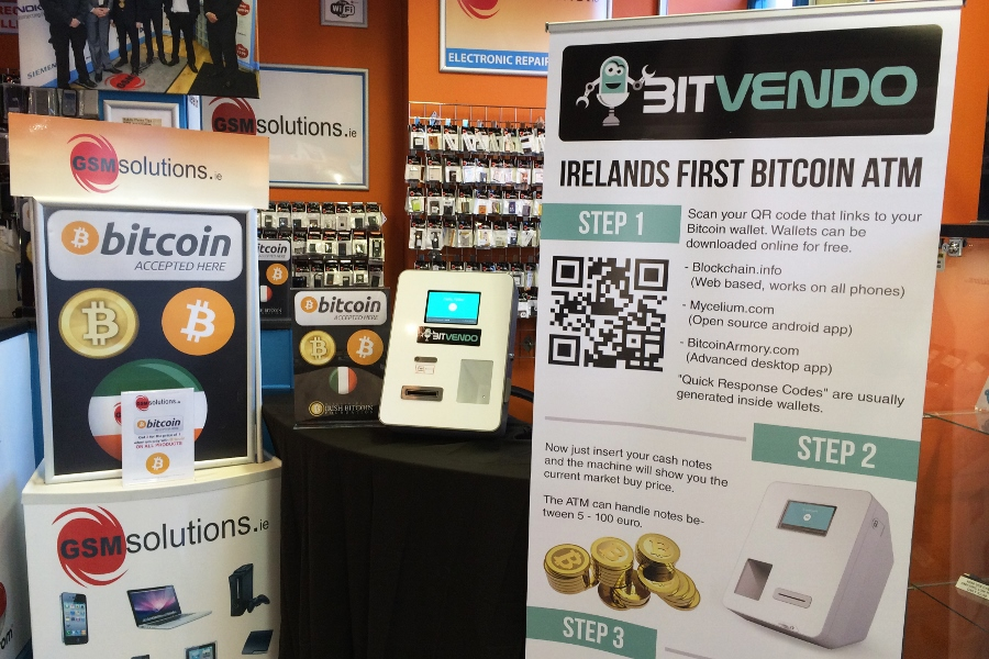 Bitcoin ATM in Ireland facing hurdles