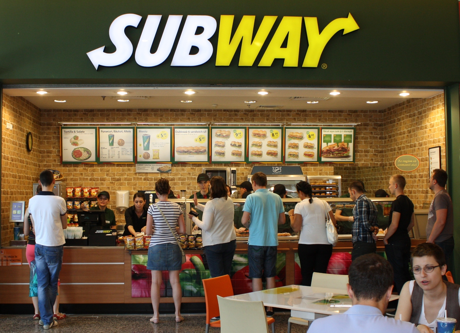 US 'Subway' sandwich shop accept bitcoins