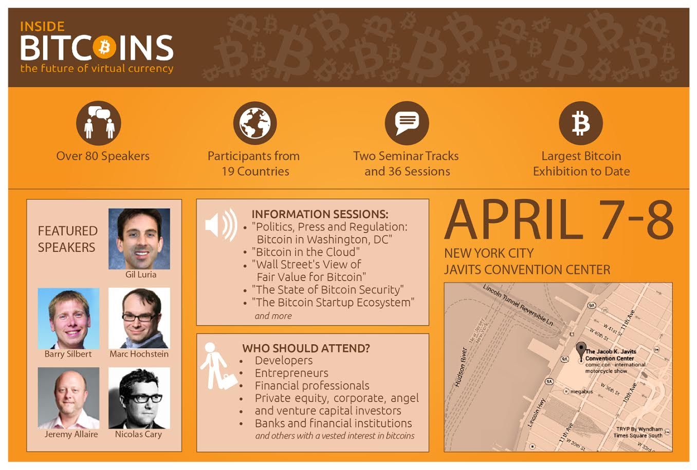 Inside Bitcoins Conference & Expo in New York City on April 7-8, 2014