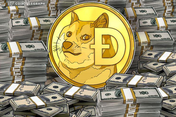 De 'memecoin' a multimillonario jugador - Dogecoin supera los $1 mil millones