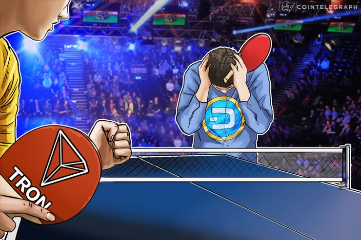 TRON Breaks Into Top 10 Cryptocurrencies, Displaces Dash