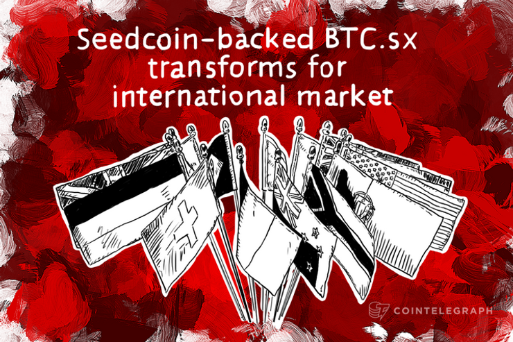Seedcoin-backed BTC.sx transforms for international market