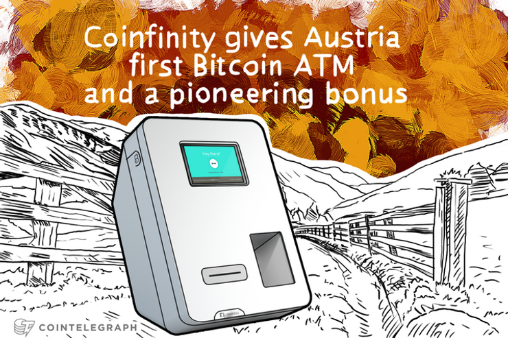 Coinfinity gives Austria first Bitcoin ATM and a pioneering bonus