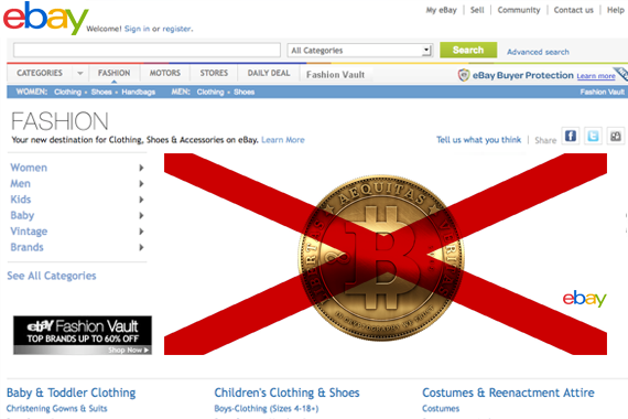 eBay acts against Bitcoin